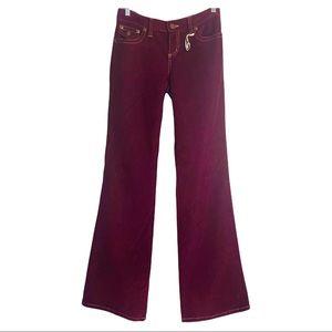 Y2K Purple Corduroy Bootcut Pants Size 3/4 Long
